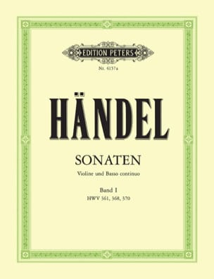 Sonaten Band 1 HAENDEL Partition Violon - laflutedepan