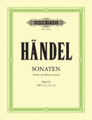 Sonaten Band 2 HAENDEL Partition Violon - laflutedepan