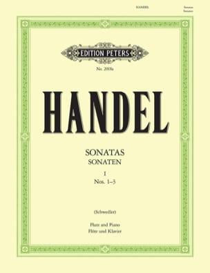 Flute Sonatas Volume 1 - N° 1-3 HAENDEL Partition laflutedepan