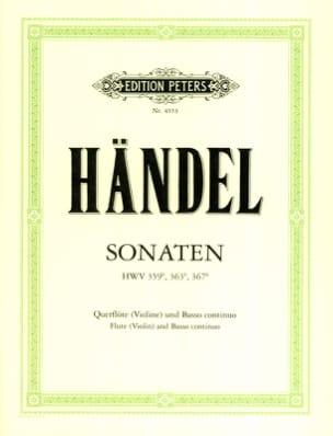 Georg Friedrich Haendel - 3 Sonaten – Flöte (Violine) und Bc - Partition - di-arezzo.fr