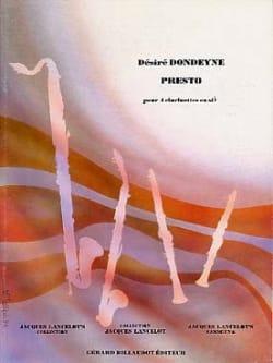 Presto Désiré Dondeyne Partition Clarinette - laflutedepan