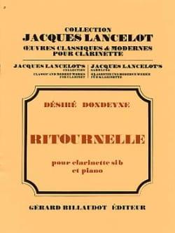 Ritournelle Désiré Dondeyne Partition Clarinette - laflutedepan