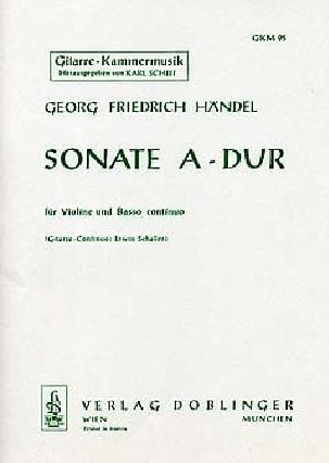 Georg Friedrich Haendel - Sonate A-Dur – Violine Gitarre - Partition - di-arezzo.fr