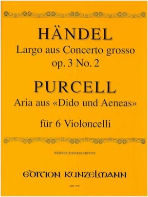 HAENDEL - Largo / Aria - 6 cellos - Sheet Music - di-arezzo.com