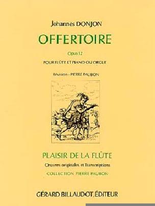 Offertoire Opus 12 Johannes Donjon Partition laflutedepan