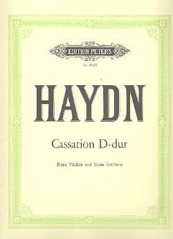 HAYDN - Cassation D-Dur Hob. 4 : d2 -Flöte, Violine u. Bc - Partition - di-arezzo.fr