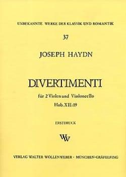 Joseph Haydn - Divertimenti Hob. 12 : 19 –2 Violen Cello - Stimmen - Partition - di-arezzo.fr