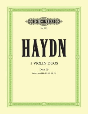 Joseph Haydn - 3 Duos op. 99 - Partition - di-arezzo.fr