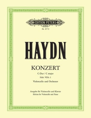 HAYDN - Concerto in C Major for cello Hob. 7b: 1 - Sheet Music - di-arezzo.co.uk