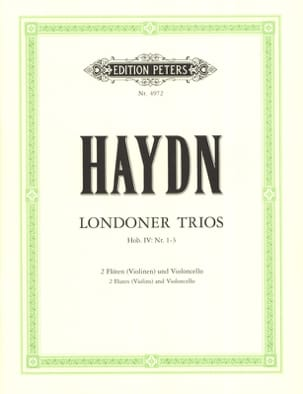 3 London Trios - 2 Flöten Violoncello Partitur + Stimmmen laflutedepan