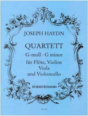 Quartett g-moll - Flöte Violine Viola Violoncello - Stimmen laflutedepan