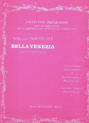 Bella Venezia Willy van Dorsselaer Partition Clarinette - laflutedepan