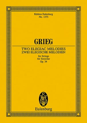 Edvard Grieg - 2 Elegische Melodien, Opus 34 - Sheet Music - di-arezzo.co.uk