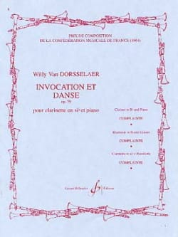 Invocation et Danse op. 59 Willy van Dorsselaer Partition laflutedepan