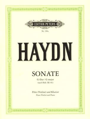 Joseph Haydn - Sonate G-Dur (nach Hob. 3 : 81) – Flöte (Violine) und Klavier - Partition - di-arezzo.fr