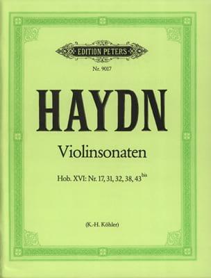 HAYDN - Hob sonatas. 15: No. 17, 31, 32 y 38 - Hob. 16: No. 43 bis - Partitura - di-arezzo.es