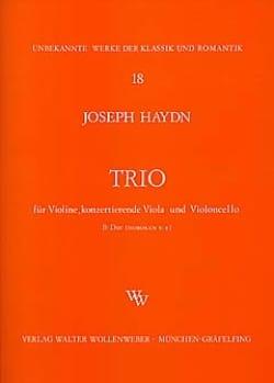 Joseph Haydn - Streichtrio B-Dur Hob. 5 : 8 –Stimmen - Partition - di-arezzo.fr