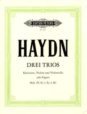 HAYDN - 3 Trios Hob. 4: Es 1, Es 2, B 1 - Violin violet Cello o. Fagott - Sheet Music - di-arezzo.com