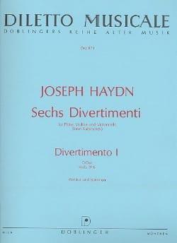 HAYDN - 6 Divertimenti, Divertimento Nr. 1 D-Dur -partitur + Stimmen - Partition - di-arezzo.fr