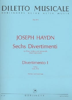 HAYDN - 6 Divertimenti, Divertimento Nr. 1 D-Dur - partitur Stimmen - Partition - di-arezzo.com