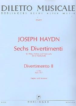 HAYDN - 6 Divertimenti, Divertimento Nr. 2 G-Dur - Partitur Stimmen - Sheet Music - di-arezzo.com