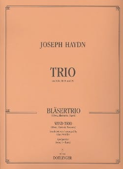 Bläser-Trio - Hautbois Clarinette Basson HAYDN Partition laflutedepan