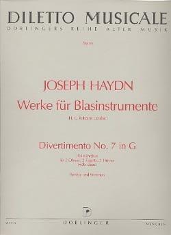 Divertimento Nr. 7 G-Dur -2 Oben 2 Fagotte 2 Hörner - Partitur + Stimmen laflutedepan