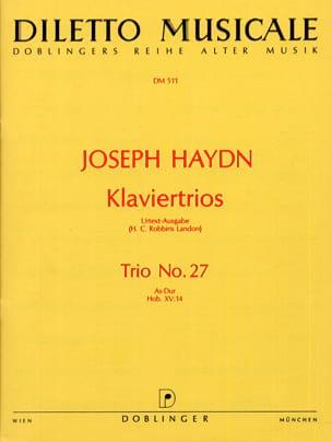 Joseph Haydn - Klaviertrio Nr. 27 As-Dur Hob. 15 : 14 –Stimmen - Partition - di-arezzo.fr