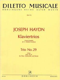 HAYDN - Klaviertrio Nr. 29 G-Dur Hob. 15 : 15 -Flöte Violoncello Klavier - Partition - di-arezzo.fr