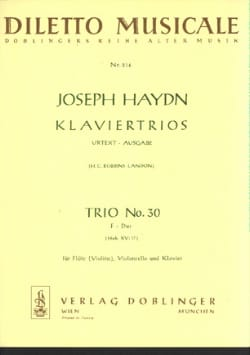 Klaviertrio Nr. 30 F-Dur Hob. 15 n° 17 -Flöte Violine, Violoncello u. Klavier laflutedepan