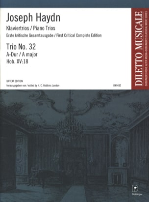 Klaviertrio Nr. 32 A-Dur Hob. 15 : 18 -Stimmen - laflutedepan.com