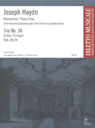 Joseph Haydn - Klaviertrio Nr. 38 D-Dur Hob. 15 : 24 – Stimmen - Partition - di-arezzo.fr