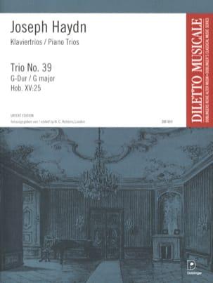 Joseph Haydn - Klaviertrio Nr. 39 G-Dur Hob. 15 : 25 - Partition - di-arezzo.fr