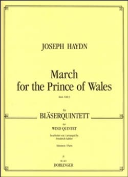 Joseph Haydn - March for the Prince of Wales – Bläserquintett - Stimmen - Partition - di-arezzo.fr
