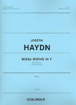 Missa Brevis in F – Partitur - Joseph Haydn - laflutedepan.com