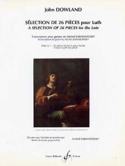 Sélection de 26 pièces pour luth - Volume 1 John Dowland laflutedepan