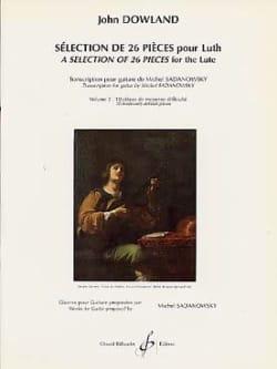 Selection de 26 pièces pour luth - Volume 2 DOWLAND laflutedepan