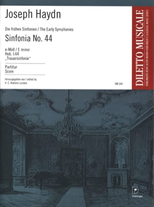 Joseph Haydn - Sinfonia Nr. 44 e-Moll (Trauer) – Partitur - Partition - di-arezzo.fr