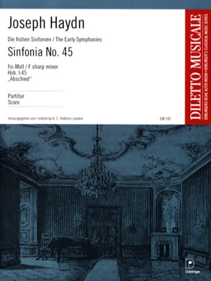 Joseph Haydn - Sinfonia Nr. 45 fis-Moll (Abschiedssymphonie) - Partition - di-arezzo.fr