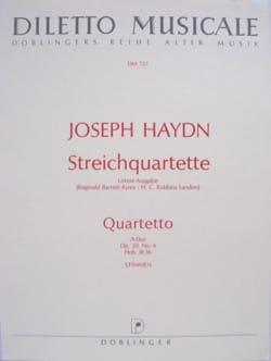 Joseph Haydn - Streichquartett A-Dur op. 20 n° 6 -Stimmen - Partition - di-arezzo.fr