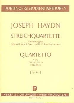 Joseph Haydn - Streichquartett A-Dur op. 20 n° 6 Hob. 3 : 36 – Partitur - Partition - di-arezzo.fr