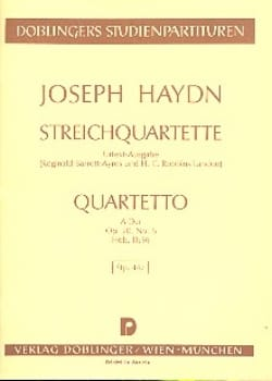 Streichquartett A-Dur op. 20 n° 6 Hob. 3 : 36 – Partitur - laflutedepan.com