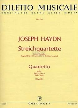 Streichquartett B-Dur op. 33 n° 4 - Stimmen - HAYDN - laflutedepan.com