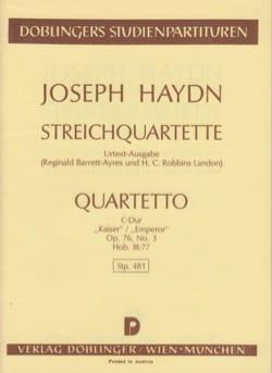 Joseph Haydn - Streichquartett C-Dur op. 76 n° 3 Hob. 3 : 77 –Partitur - Partition - di-arezzo.fr
