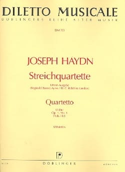 Joseph Haydn - Streichquartett D-Dur op. 1 n° 3 –Stimmen - Partition - di-arezzo.fr