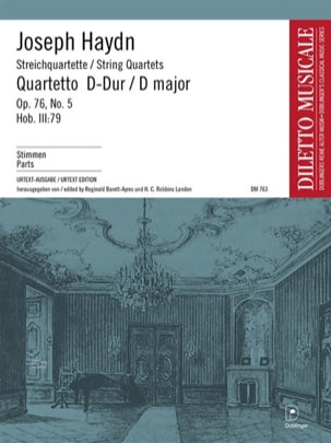 Streichquartett D-Dur op. 76 n° 5 –Stimmen - laflutedepan.com