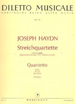Streichquartett d-moll op. 42 -Stimmen - HAYDN - laflutedepan.com