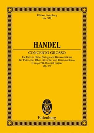 HAENDEL - Concerto gross G-Dur - Partition - di-arezzo.fr