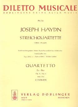 Joseph Haydn - Streichquartett Es-Dur op. 1 n° 2 –Stimmen - Partition - di-arezzo.fr