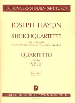 HAYDN - Streichquartett Es-Dur op. 20 n ° 1 Hob. 3: 31 - Partitur - Sheet Music - di-arezzo.co.uk